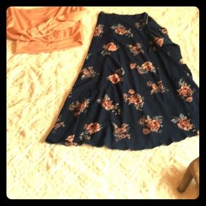Fun floral wrap skirt